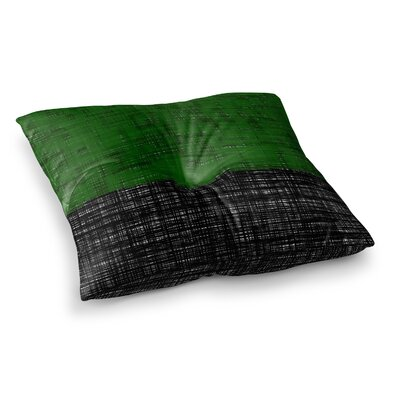 Trebam Platno Digital Square Floor Pillow Size: 26 x 26, Color: Green