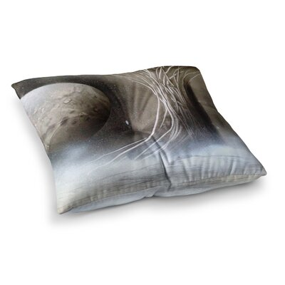 Infinite Spray Art Tree Space Square Floor Pillow Size: 23 x 23