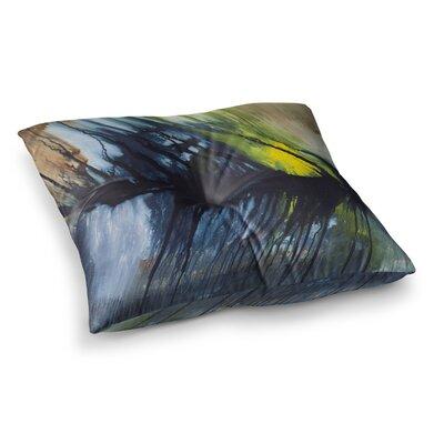 Steve Dix Gravity Falling Paint Square Floor Pillow Size: 26 x 26