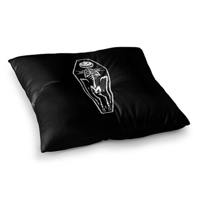 BarmalisiRTB Dead Halloween Illustration Square Floor Pillow Size: 23 x 23