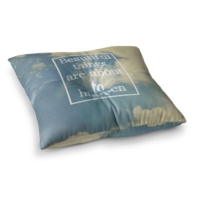 Rachel Burbee Beautiful Things Sky Clouds Square Floor Pillow Size: 26 x 26
