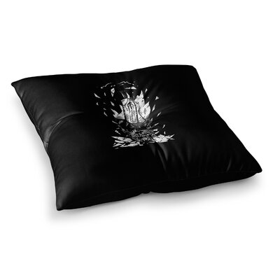 BarmalisiRTB Broken Bulb Skull Digital Square Floor Pillow Size: 26 x 26