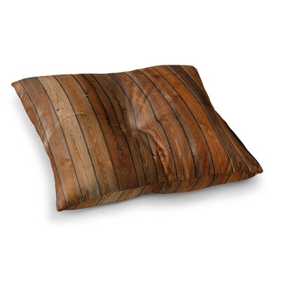 Susan Sanders Rustic Wood Wall Nature Square Floor Pillow Size: 23 x 23