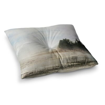 Robin Dickinson He Who Seeks Beauty Coastal Square Floor Pillow Size: 23 x 23