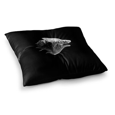 BarmalisiRTB The Wolf Digital Square Floor Pillow Size: 26 x 26