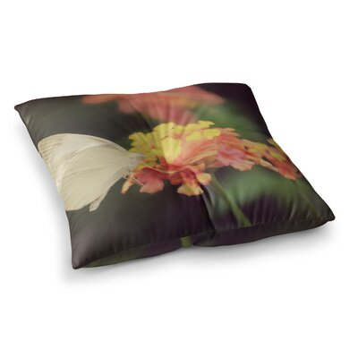 Robin Dickinson Captivating Flower Square Floor Pillow Size: 23 x 23