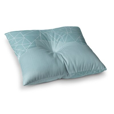 Project M Ab Lines Salt Digital Square Floor Pillow Size: 23 x 23, Color: Aqua