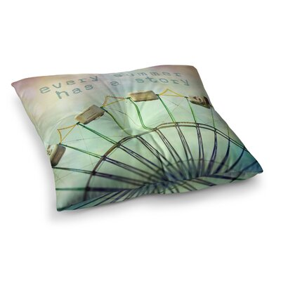 Sylvia Cook Every Summer Has a Story Square Floor Pillow Size: 26 x 26