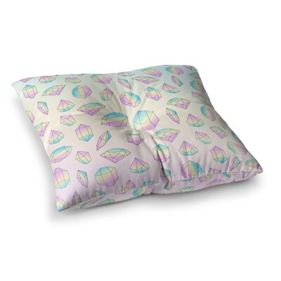 Strawberringo Diamonds Vector Square Floor Pillow Size: 23 x 23