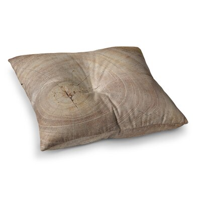 Susan Sanders Aging Tree Wooden Square Floor Pillow Size: 23 x 23