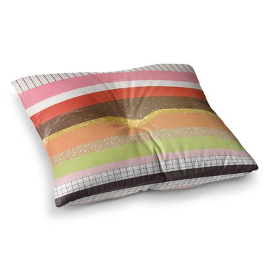 Strawberringo Hodge Podge Square Floor Pillow Size: 26 x 26