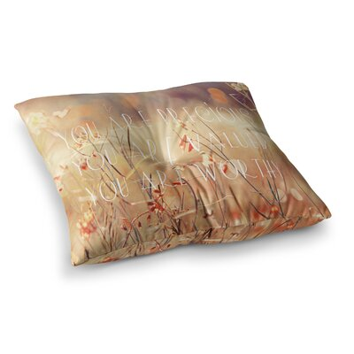 Suzanne Carter You are Precious Quote Square Floor Pillow Size: 23