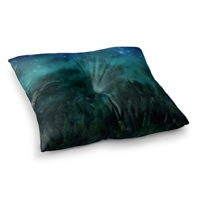 888 Design Forest Night Digital Square Floor Pillow Size: 23 x 23