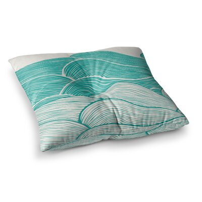 Pom Graphic Design the Calm and Stormy Seas Square Floor Pillow Size: 23 x 23, Color: Teal