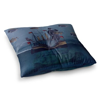 Suzanne Carter The Voyage Square Floor Pillow Size: 26 x 26