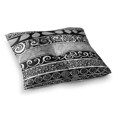 Pom Graphic Design Tribal Evolution Square Floor Pillow Size: 26 x 26