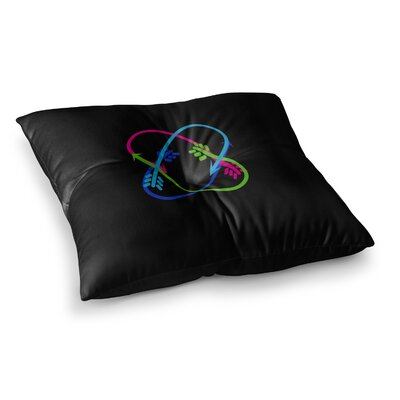 BarmalisiRTB Love Unity Digital Square Floor Pillow Size: 26 x 26