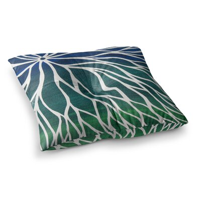 NL Designs Ocean Flower Teal Square Floor Pillow Size: 23 x 23