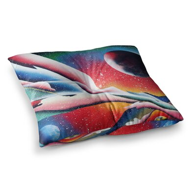 Infinite Spray Art String Theory Square Floor Pillow Size: 23 x 23