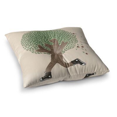 Tobe Fonseca Run For Your Life Tree Illustration Square Floor Pillow Size: 23 x 23