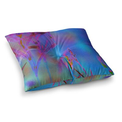 Malia Shields Painterly Foliage Series 2 Square Floor Pillow Size: 26 x 26