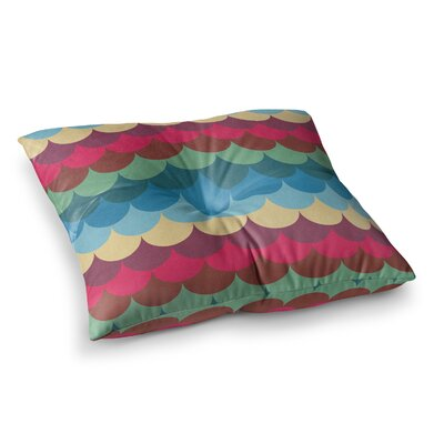 Tobe Fonseca Mermaid Pattern Magenta Digital Square Floor Pillow Size: 26 x 26