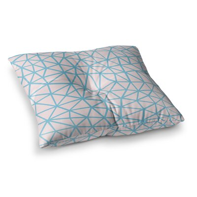 Project M Segment Salt Pastel Digital Square Floor Pillow Size: 26 x 26, Color: White