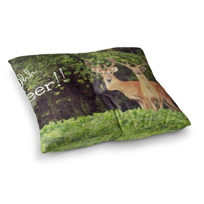 Robin Dickinson Ohh Deer Square Floor Pillow Size: 23 x 23