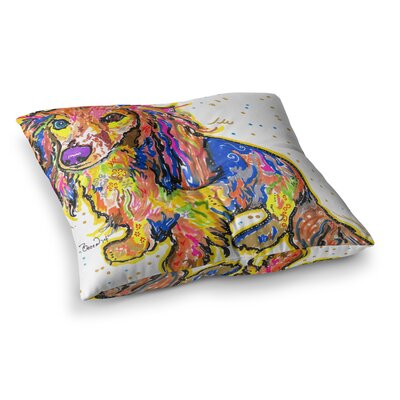 Rebecca Fischer Leela Daschund Square Floor Pillow Size: 23 x 23