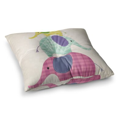 Noonday Design Balancing Act Kids Square Floor Pillow Size: 23 x 23
