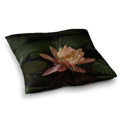 Nick Nareshni Lily Pad Flower Coral Square Floor Pillow Size: 23 x 23