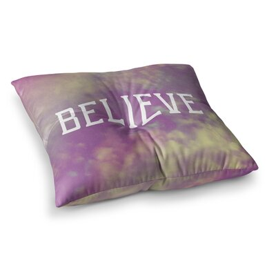 Rachel Burbee Believe Clouds Square Floor Pillow Size: 23 x 23