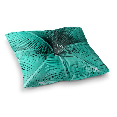Suzanne Carter Palm-Peach Square Floor Pillow Size: 26 x 26, Color: Green