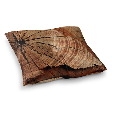 Susan Sanders Rustic Dream Wood Square Floor Pillow Size: 23