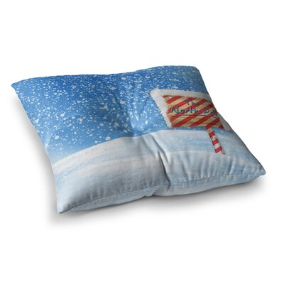 Snap Studio North Pole Snow Square Floor Pillow Size: 26 x 26