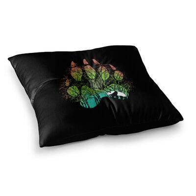 BarmalisiRTB Panda Track Digital Square Floor Pillow Size: 26 x 26