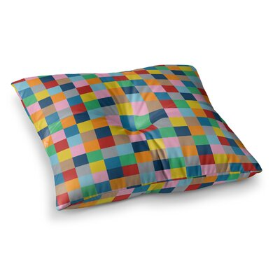 Project M Blocks Zoom Geometric Square Floor Pillow Size: 23 x 23