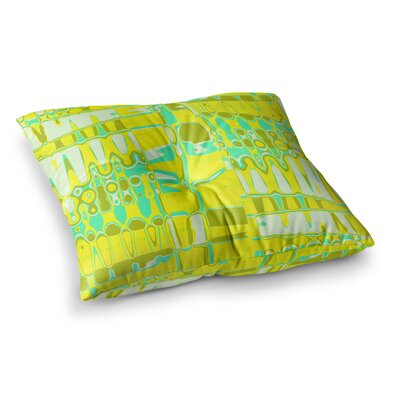 Vikki Salmela Changing Gears in Sunshine Square Floor Pillow Size: 23 x 23