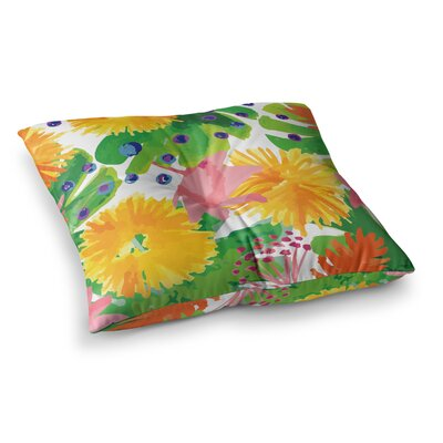 Yenty Jap Tropical Flowers Burst Square Floor Pillow Size: 26 x 26