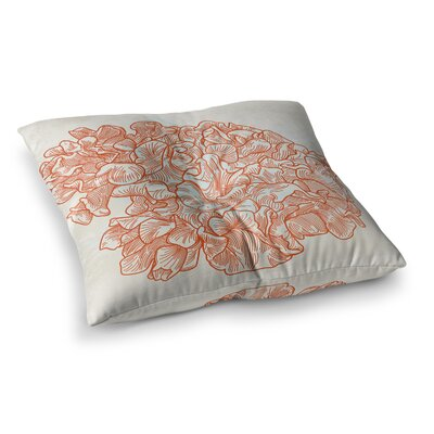 Sam Posnick Lettuce Coral Square Floor Pillow Size: 23 x 23