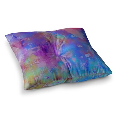 Malia Shields Painterly Foliage Series 3 Square Floor Pillow Size: 26 x 26