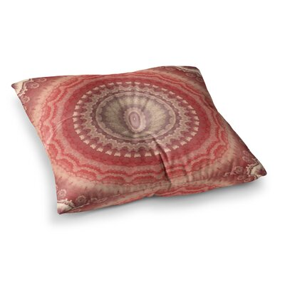 Robin Dickinson Find Your Adventure Digital Square Floor Pillow Size: 23 x 23, Color: Red
