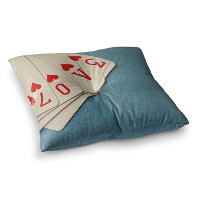 Skye Zambrana Love Square Floor Pillow Size: 26 x 26