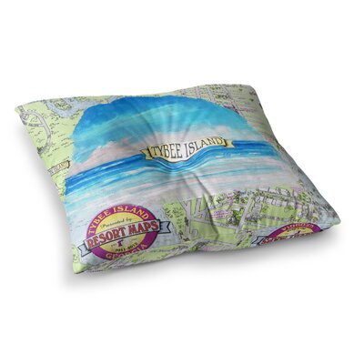 Rosie Brown Tybee Island Ocean View Square Floor Pillow Size: 23 x 23