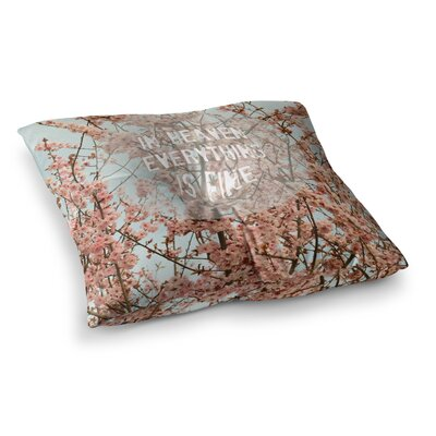 Robin Dickinson Heaven Cherry Blossom Square Floor Pillow Size: 26 x 26