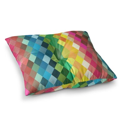 Tobe Fonseca Diamond Spectrum Digital Square Floor Pillow Size: 23 x 23