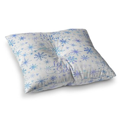 Noonday Design Let It Snow Winter Pattern Square Floor Pillow Size: 23 x 23
