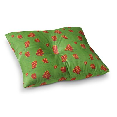 Yenty Jap Heliconia Square Floor Pillow Size: 26 x 26