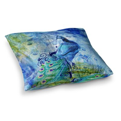 Victoria Krupp Peacock Digital Square Floor Pillow Size: 26 x 26