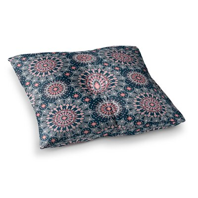 Nandita Singh Noor Digital Square Floor Pillow Size: 23 x 23, Color: Navy